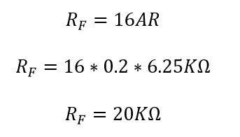 Calculando el valor de la resistencia RF (realimentación) amo op integrador