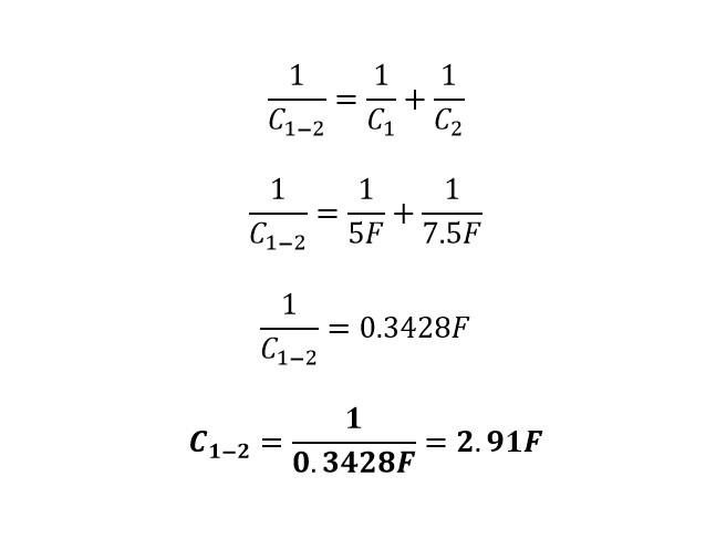 Calculo reducción 2 capacitores mixto
