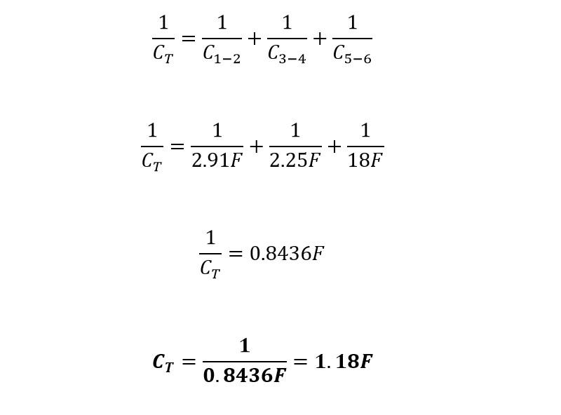Calculo reducción 4 capacitores mixto