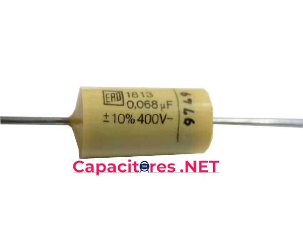Tipos de capacitores de poliéster tubulares