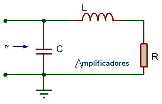 Circuito red L cuando R es mayor a RL amplificador clase C