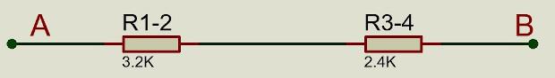 Primera simplificación del circuito de thevenin