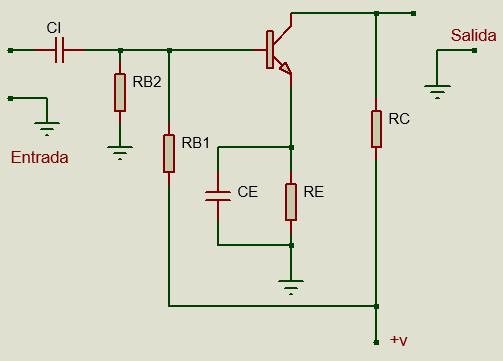 Circuito de configuración emisor común utilizando polarización universal.