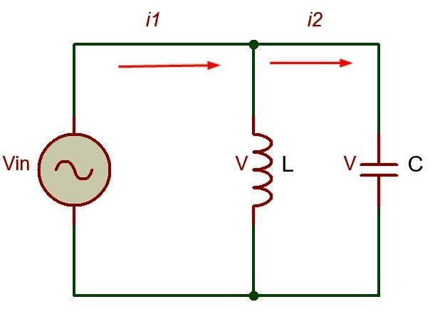 Circuito LC resonante en paralelo