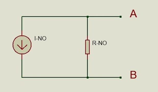 Circuito simplificado o equivalente de Norton