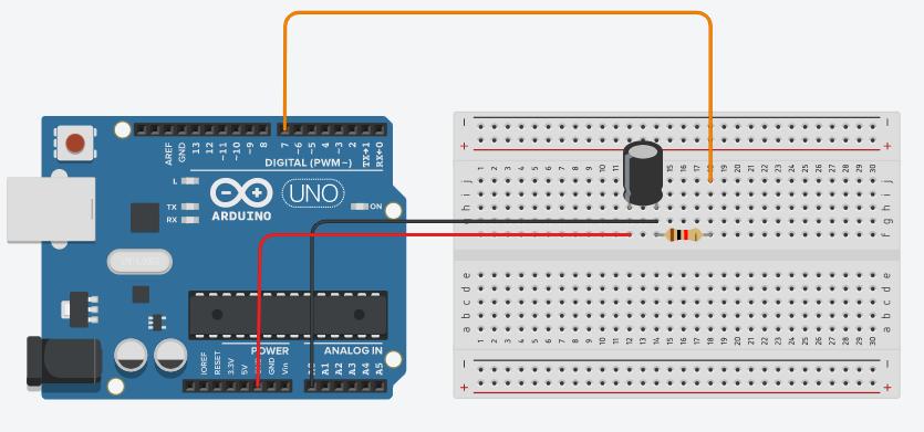 Ejemplo de un circuito rc con arduino
