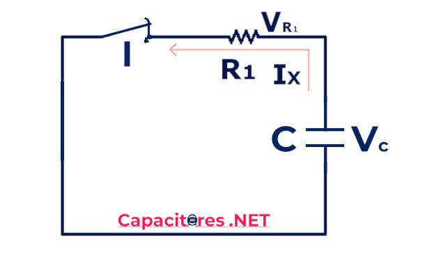 Circuito RC para la descarga de un capacitor