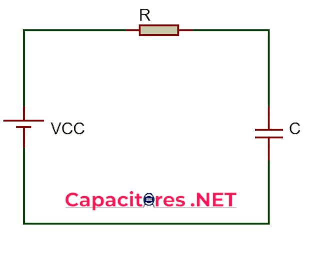 Diagrama de conexión circuito RC