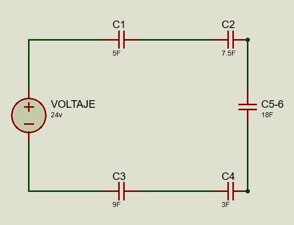 Circuito reducido 1 de capacitores mixto