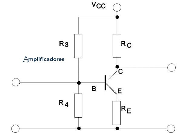 Configuración en emisor común automática