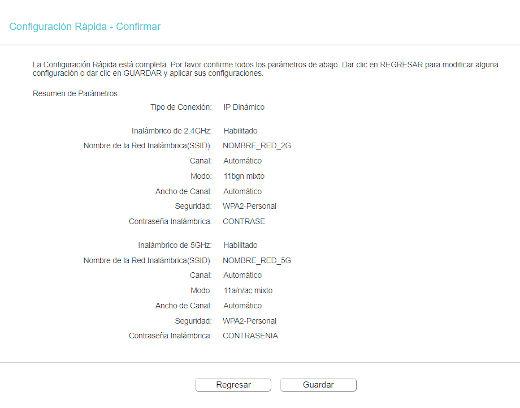 Configuración Rápida - Confirmar paso 10