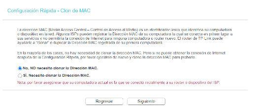 Configuración Rápida - Clon de MAC Paso 6