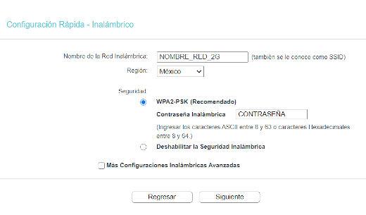 Configuración Rápida - Inalámbrico 2.4GHz Paso 8