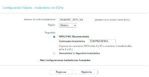 Configuración Rápida - Inalámbrico 5GHz Paso 9