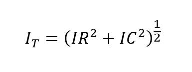 Corriente alterna total en un circuito rc paralelo