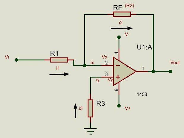 Diagrama general del amplificador inversor
