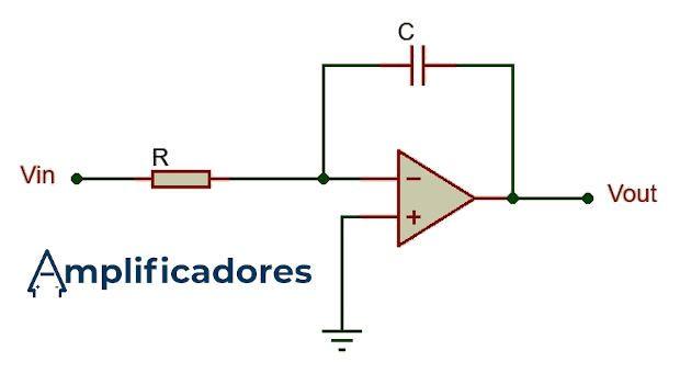 Diagrama general de conexiones del amplificador integrador