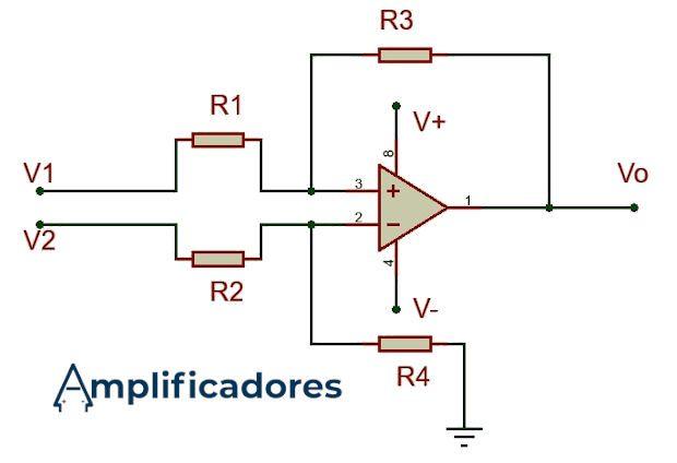 amplificador restador