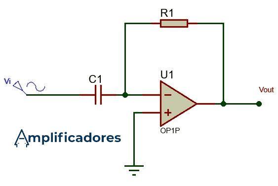 Diagrama general de conexiones del amplificador derivador