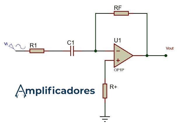 Diagrama real del amplificador derivador