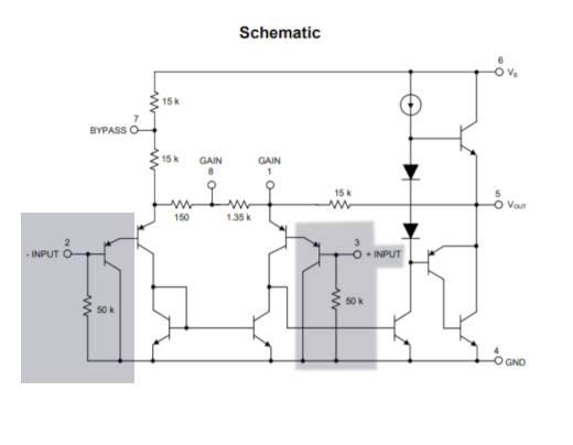 Señalización de las terminales de entrada y los transistores PNP de acoplamiento