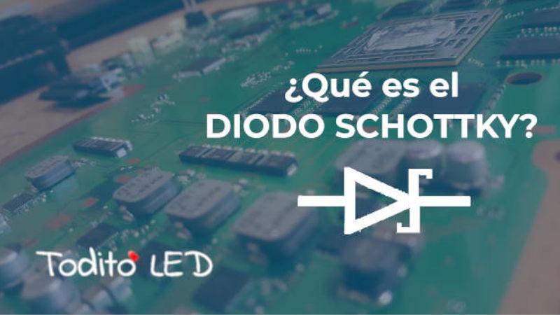 Diodo Schottky, funcionamiento, ejemplos y características.