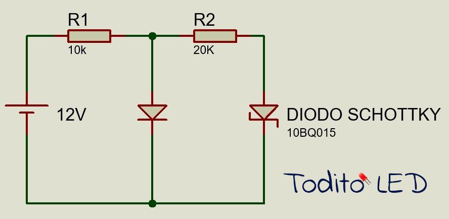 Uso del diodo Schottky serie paralelo