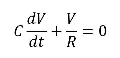 Ecuación diferencial del voltaje en un circuito RC