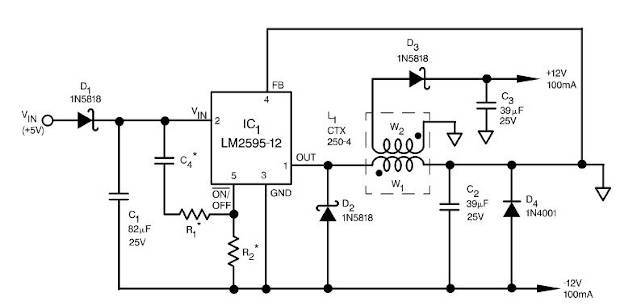 Ejemplo diodo schottky