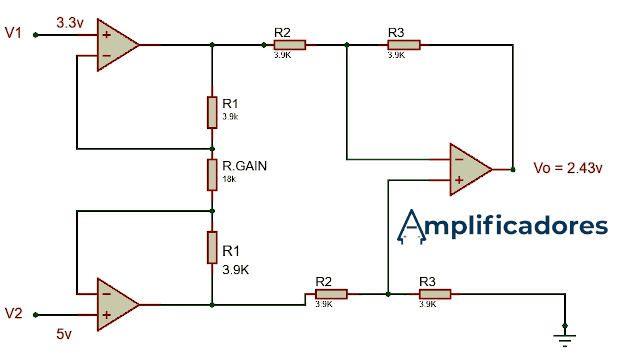 Diagrama solución amp op de instrumentación