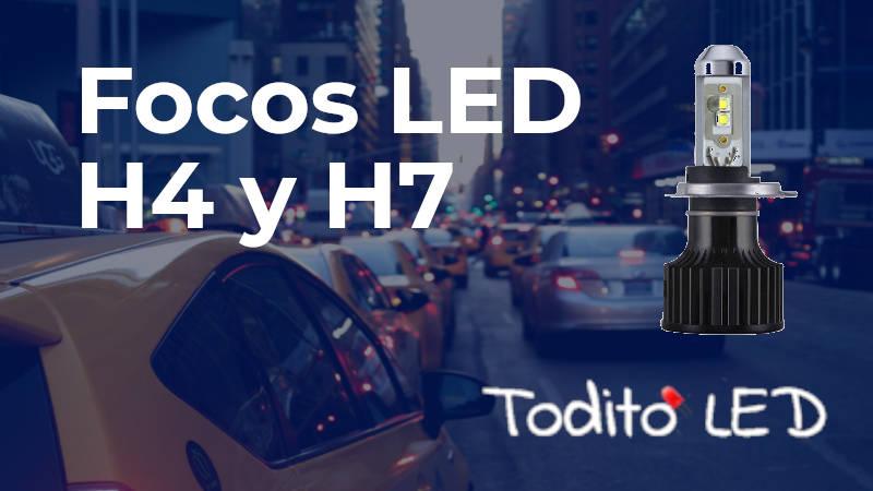 Focos LED H4 y H7: ¿Cómo seleccionar las mejores luces par auto y motocicleta?