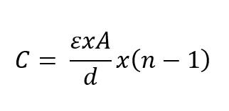Formula de la capacitancia para condensadores variables