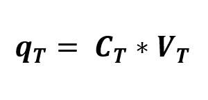 Formula de la carga total en un circuito de capacitores en paralelo