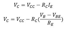 Formula de voltaje colector.