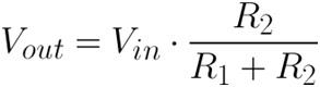 Formula para un divisor de voltaje