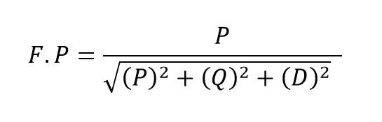 Formula del factor de potencia circuitos no lineales