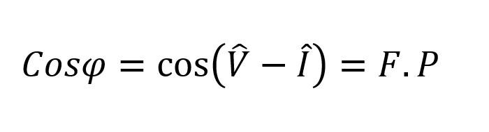 Formula fasorial del factor de potencia en circuitos lineales