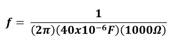 Sustitución de valores ejercicio 2 reactancia capacitiva