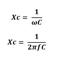 Formula de la reactancia capacitiva