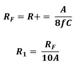 Formula de resistencias para una señal cuadrada