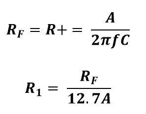 Formula de resistencias para una señal senoidal