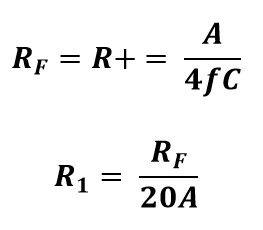 Formula de resistencias para una señal triangular