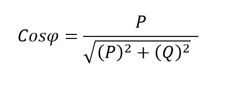 Formula trigonométrica del factor de potencia circuitos no lineales