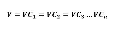 Formula del voltaje en un circuito de capacitores en paralelo