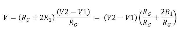 Formula del voltaje de rama en el amp op instrumentación