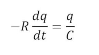 Formula del voltaje en la descarga de un capacitor