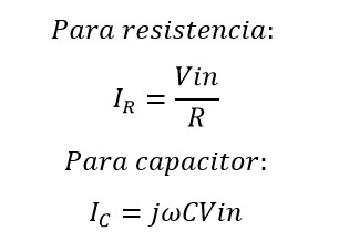 Formulas de impedancia en un circuito rc en paralelo