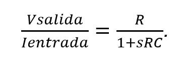 Función de transferencia circuito rc paralelo