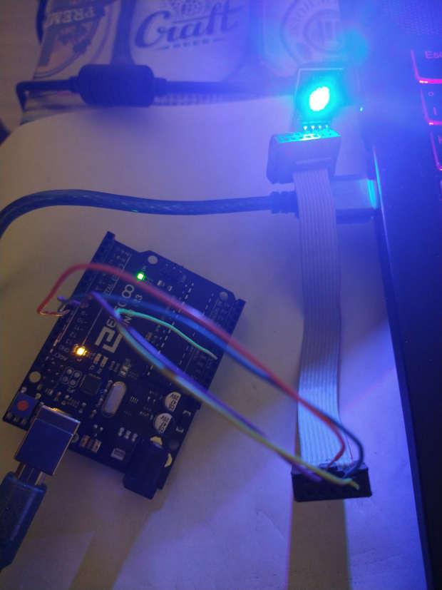 LED RGB con Arduino Funcionando