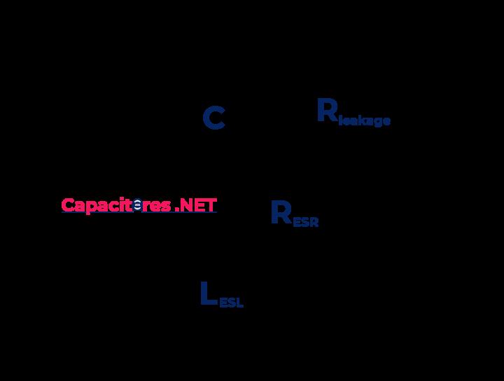 Circuito eléctrico equivalente de un capacitor electrolítico